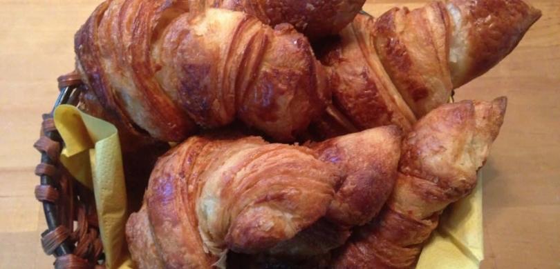 "The best croissants ever! At ""La Fournée"" bakery, in Paimpol!"