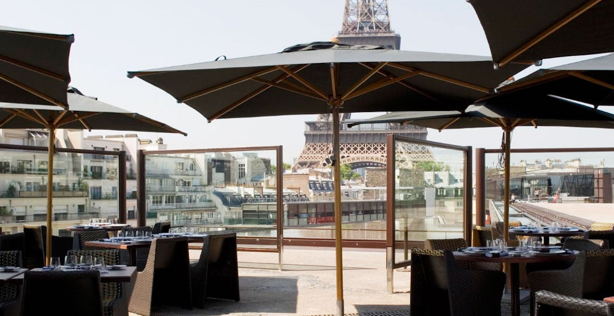 paris restaurant review les ombres french today. Black Bedroom Furniture Sets. Home Design Ideas